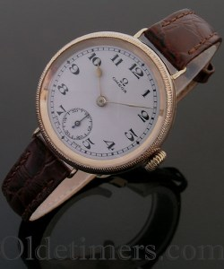 1920s 9ct rose gold vintage Omega watch (3738)