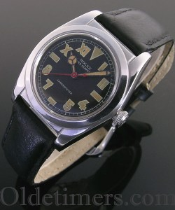 1940s steel vintage Rolex 'Bubbleback watch
