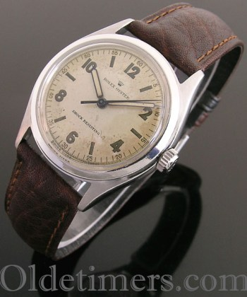 1940s steel vintage Rolex Oyster watch