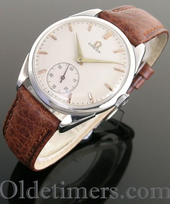 1950s round steel vintage Omega watch