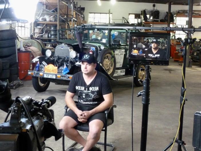 Michael in our film 'studio'