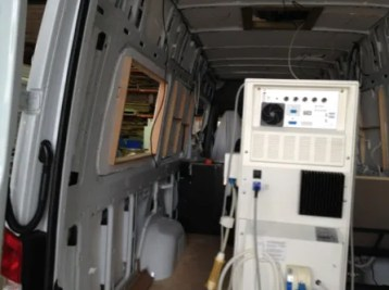 Dialysis machine goes in