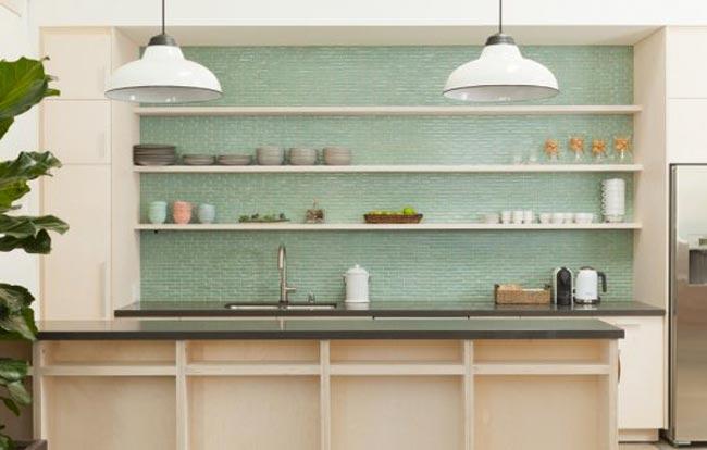 8 Cocinas Con Azulejos Verdes Esmaltados 8 Green Tiled