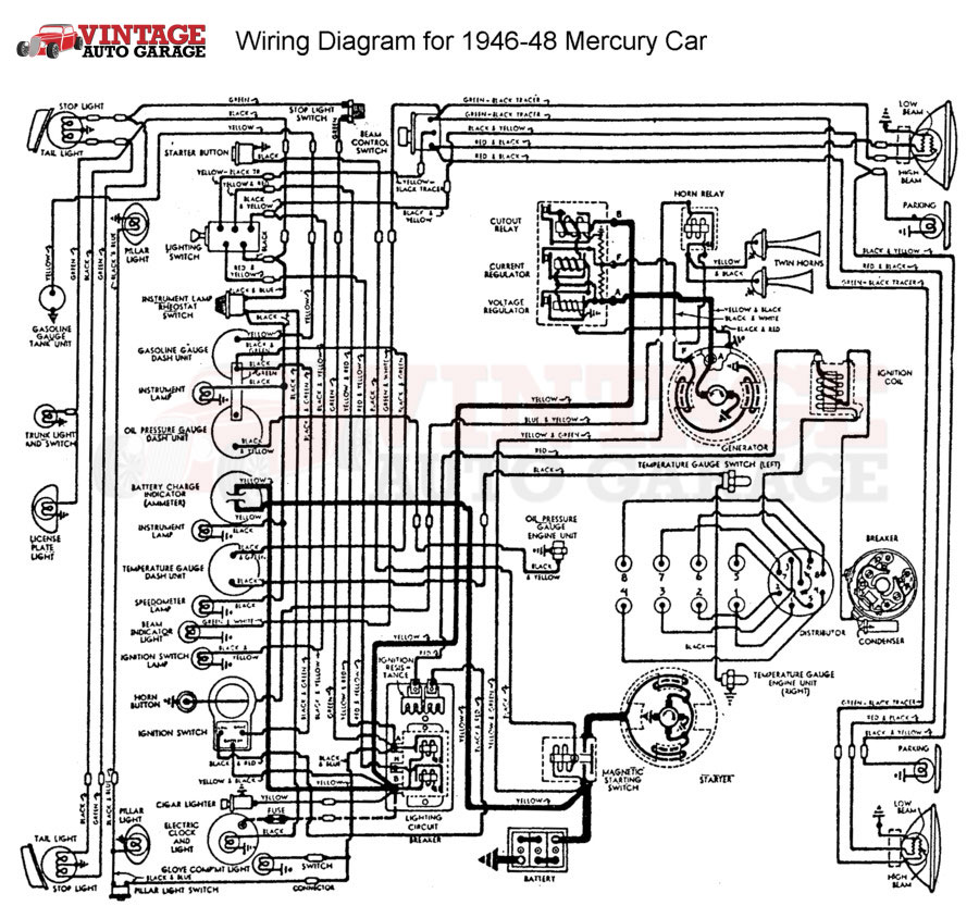 1951 Mercury Wiring Diagram 1948 Mercury Wiring Diagram Free Picture