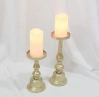 Loisa Gold Pillar Candle Holders (Set of 2) Rental ...