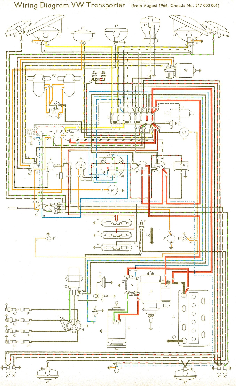 1968 vw bus wiring diagram