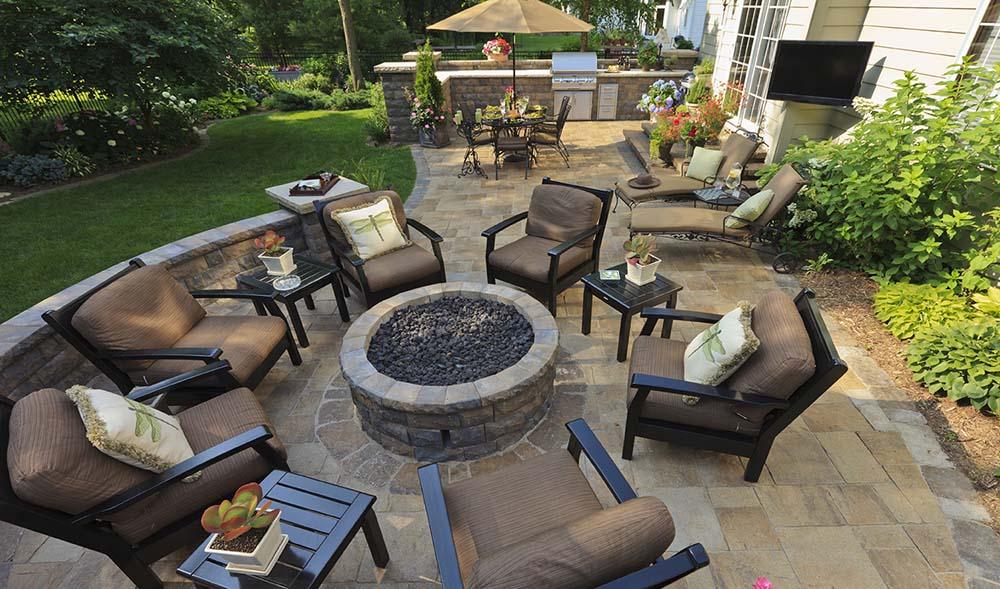 48 Beautiful Patio Designs Concrete Flagstone And Brick