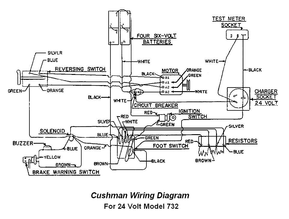 cushman 24 volt wiring diagram
