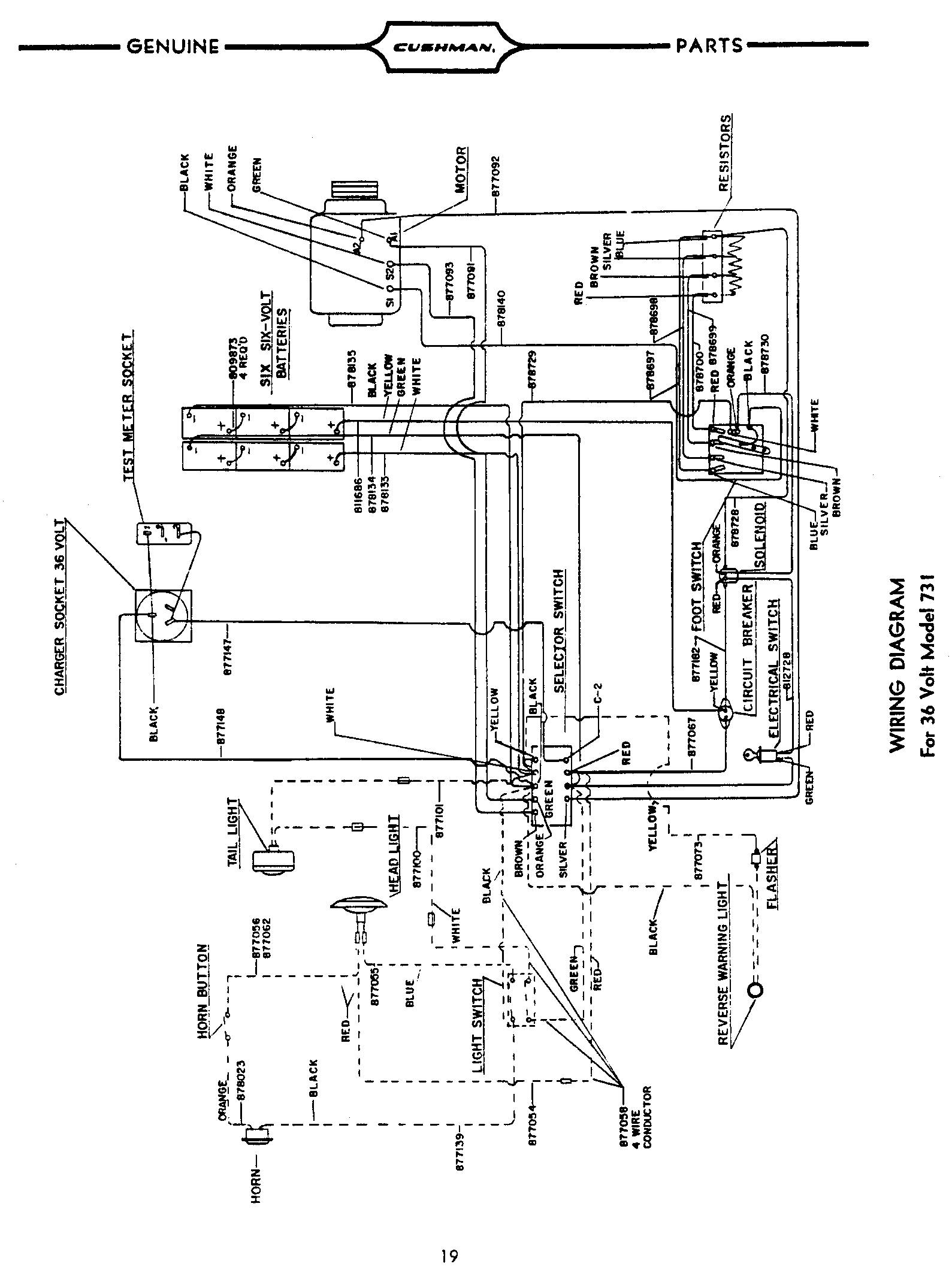 36 volt golf cart wiring diagram, pargo
