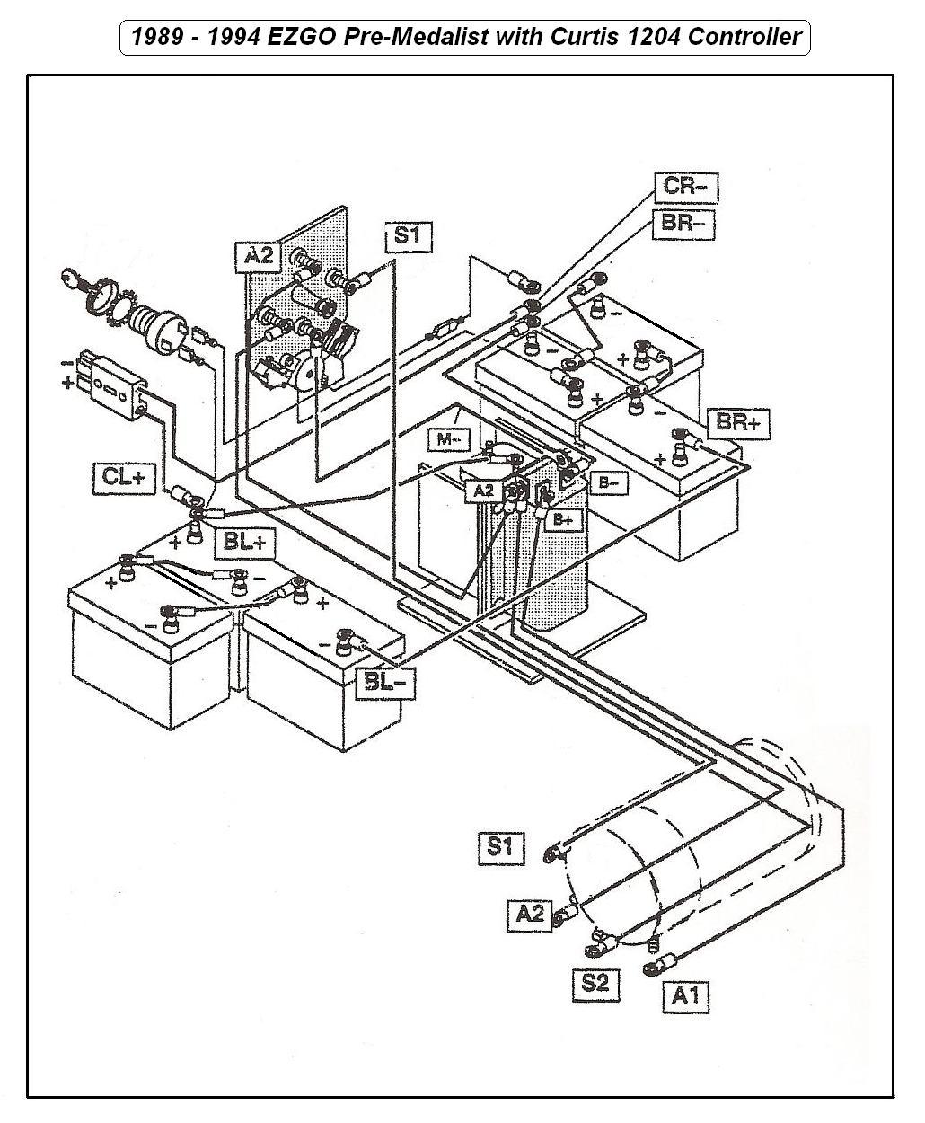 1993 ezgo marathon wiring diagram 36 volt auto electrical wiring rh wiring kadang co Ezgo Marathon 36 Volt Wiring Diagram Model 80s Golf Cart 36 Volt Wiring Diagram
