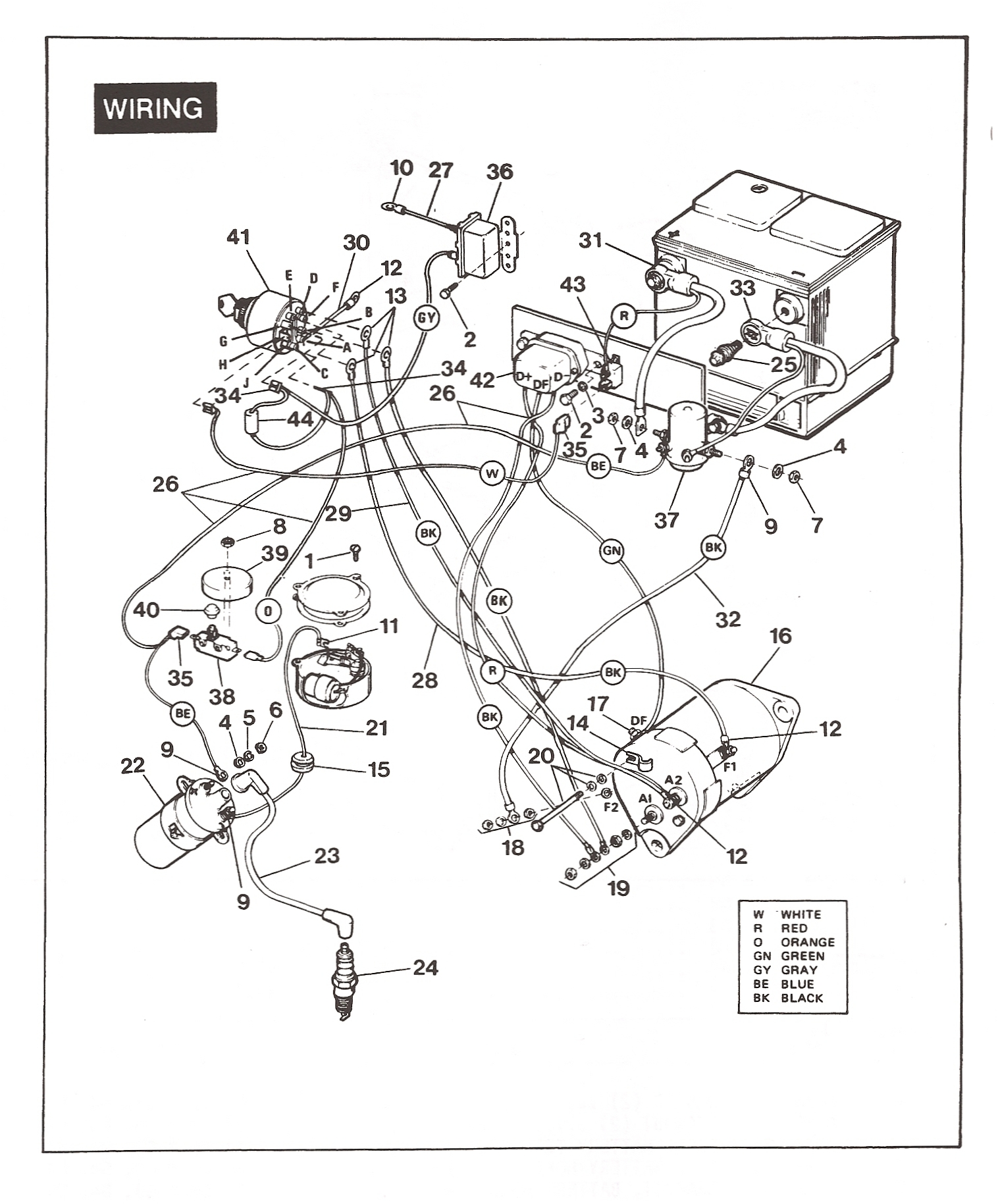 86 ez go golf carts wiring diagram