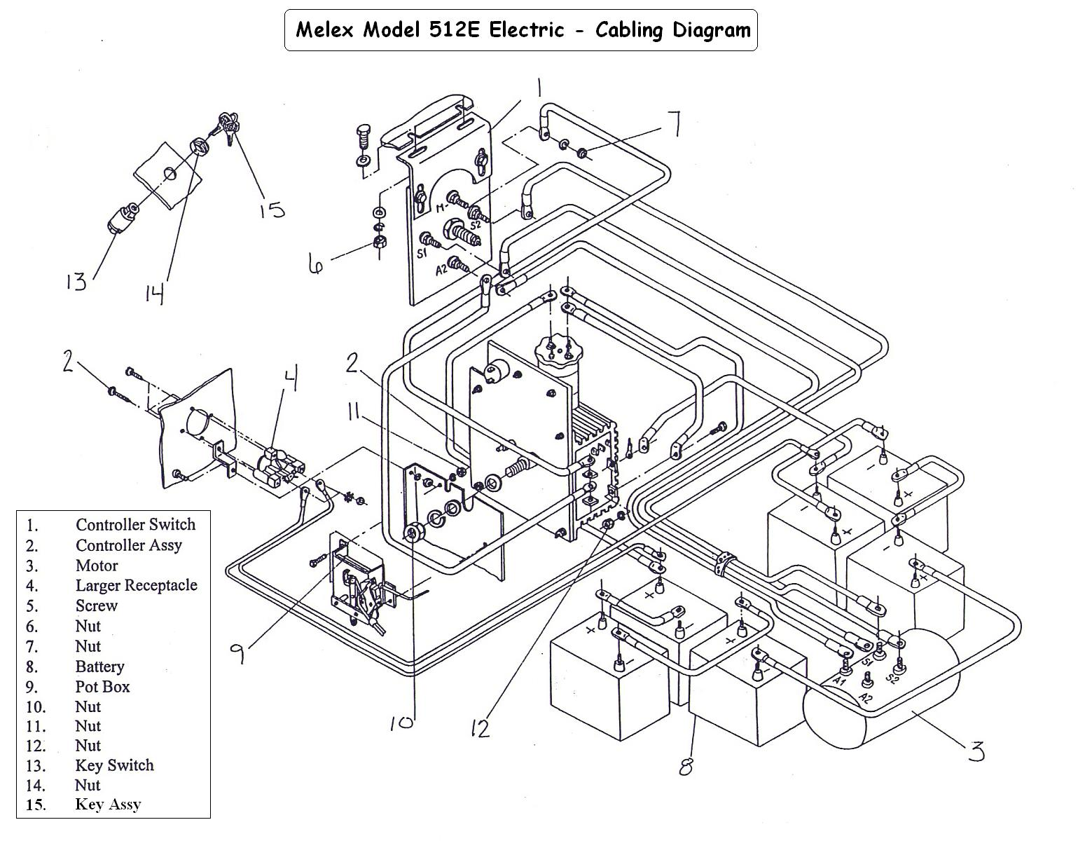 ez go golf cart schematic diagram