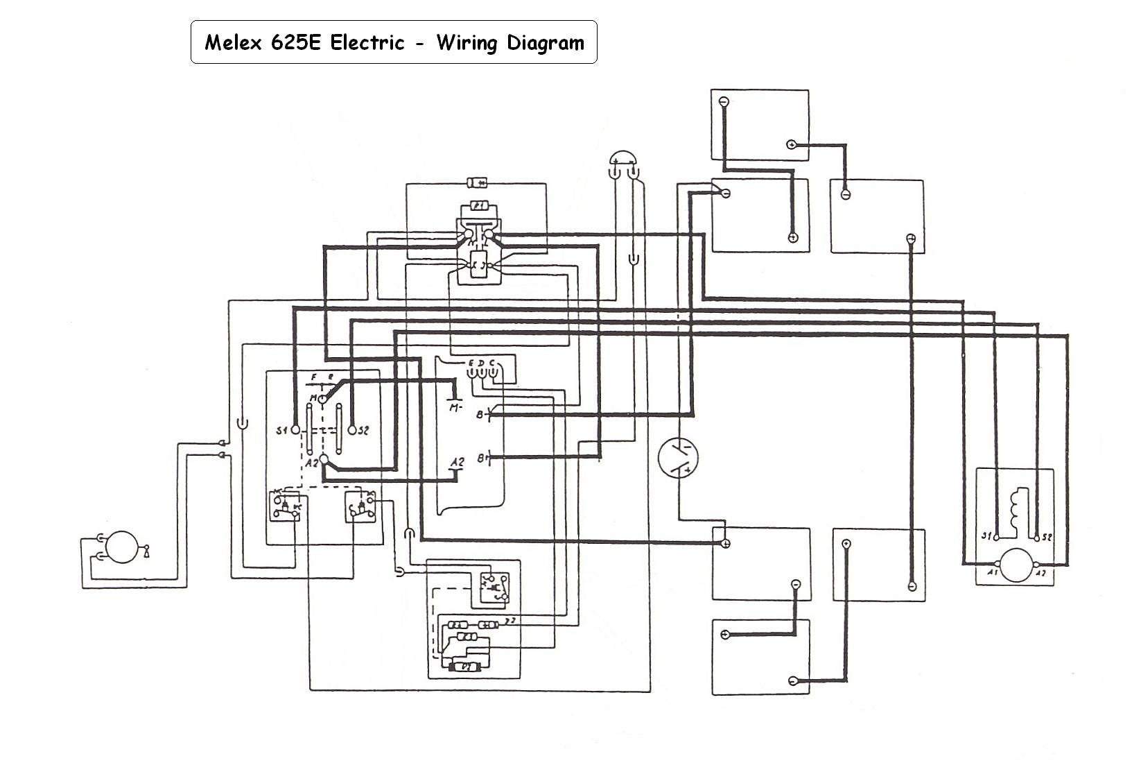 Melex Golf Cart Wiring Diagram For A Complete Third Car 212 Todays Yamaha Harness J38 01
