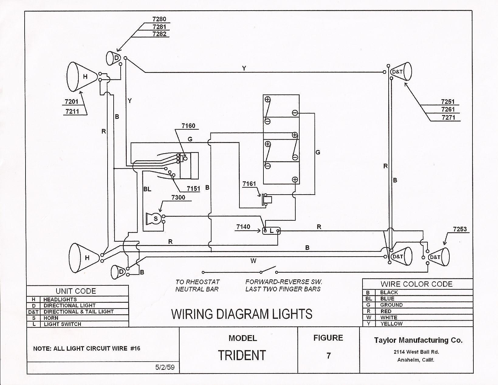 36 volt melex wiring diagram