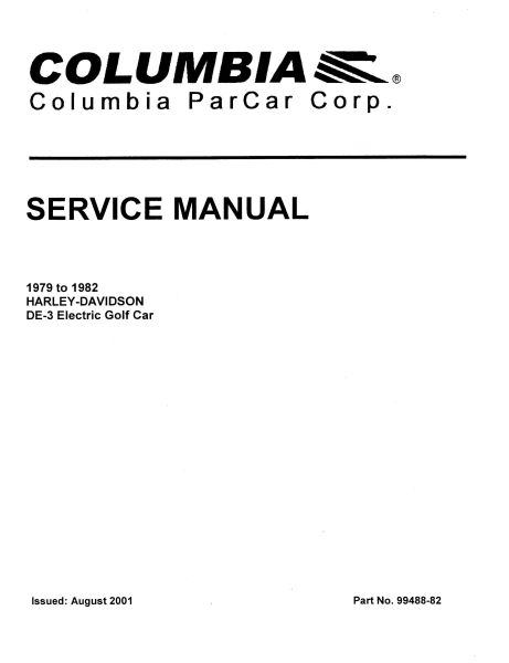 taylor dunn carts service manual