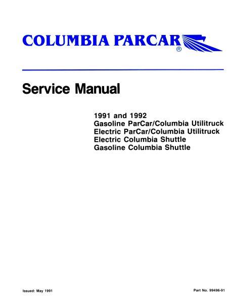 Service Manuals, Gas - Vintage Golf Cart Parts Inc