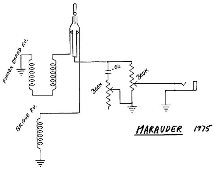 Gibson Marauder Wiring Schematic Wiring Diagram Library