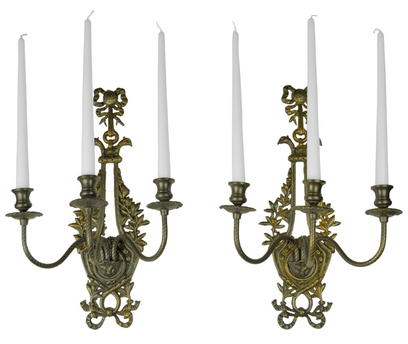 Victorian Neo Rococo Pair Of Candelabrums Wall Sconces