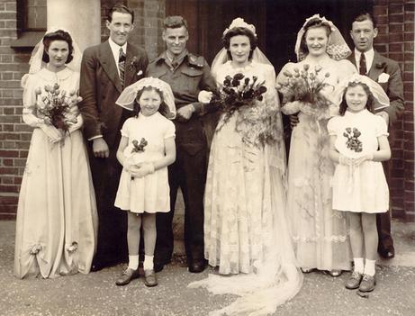 1940s Canadian War Bride wedding