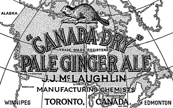 Vintage Canada Dry ginger Ale label Toronto, Canada