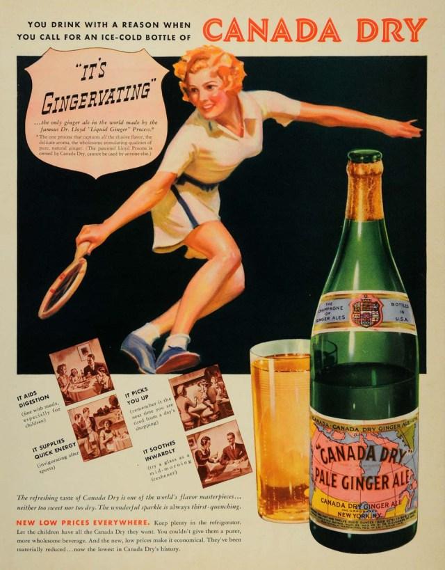 Canada Dry Ginger Alex 1937 Vintage Ad