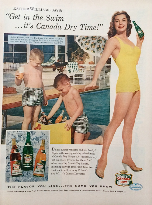 vintage Canada Dry ad with Esther Willias