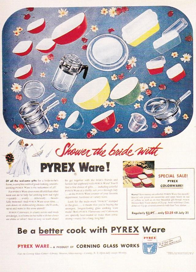 Pyrex magazine ad, 1950s
