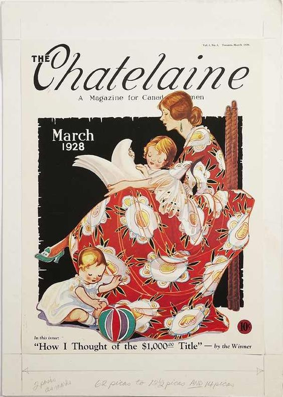 Chatelaine vintage magazine cover march 1928