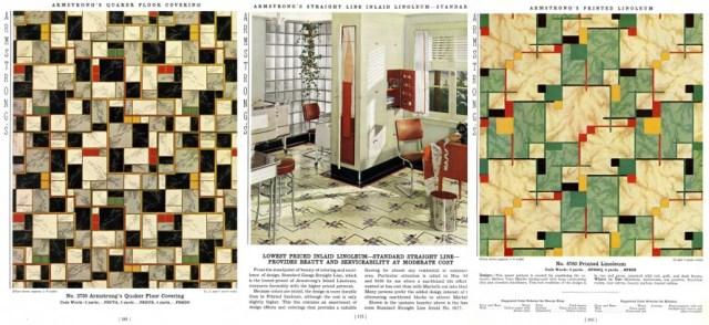 1939 Linoleum vintage flooring pattern Armstrong