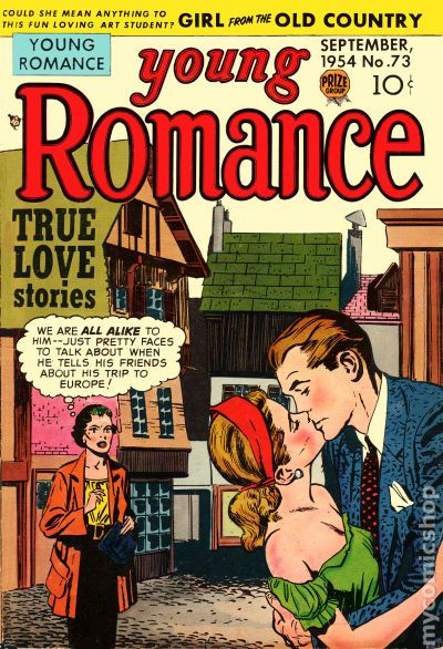 Young romance vintage comic book