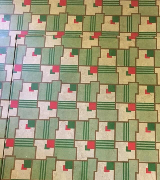 Linoleum floor Todmorden Mills 1940s