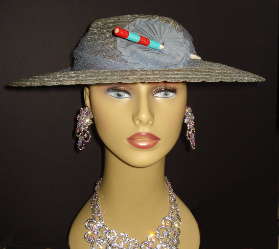 1930s art deco vintage straw hat
