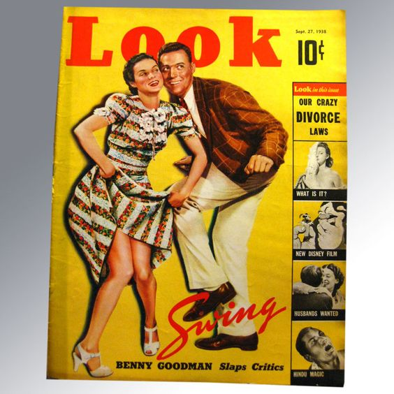 1938 look magazine vintage cover featuring lindy hop swing dance
