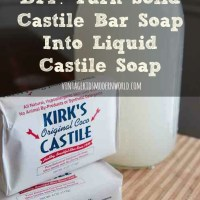 DIY :: Turn Solid Castile Bar Soap Into Liquid Castile Soap