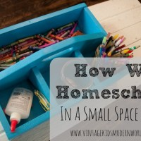 How We Homeschool In A Small Space (Part 1)