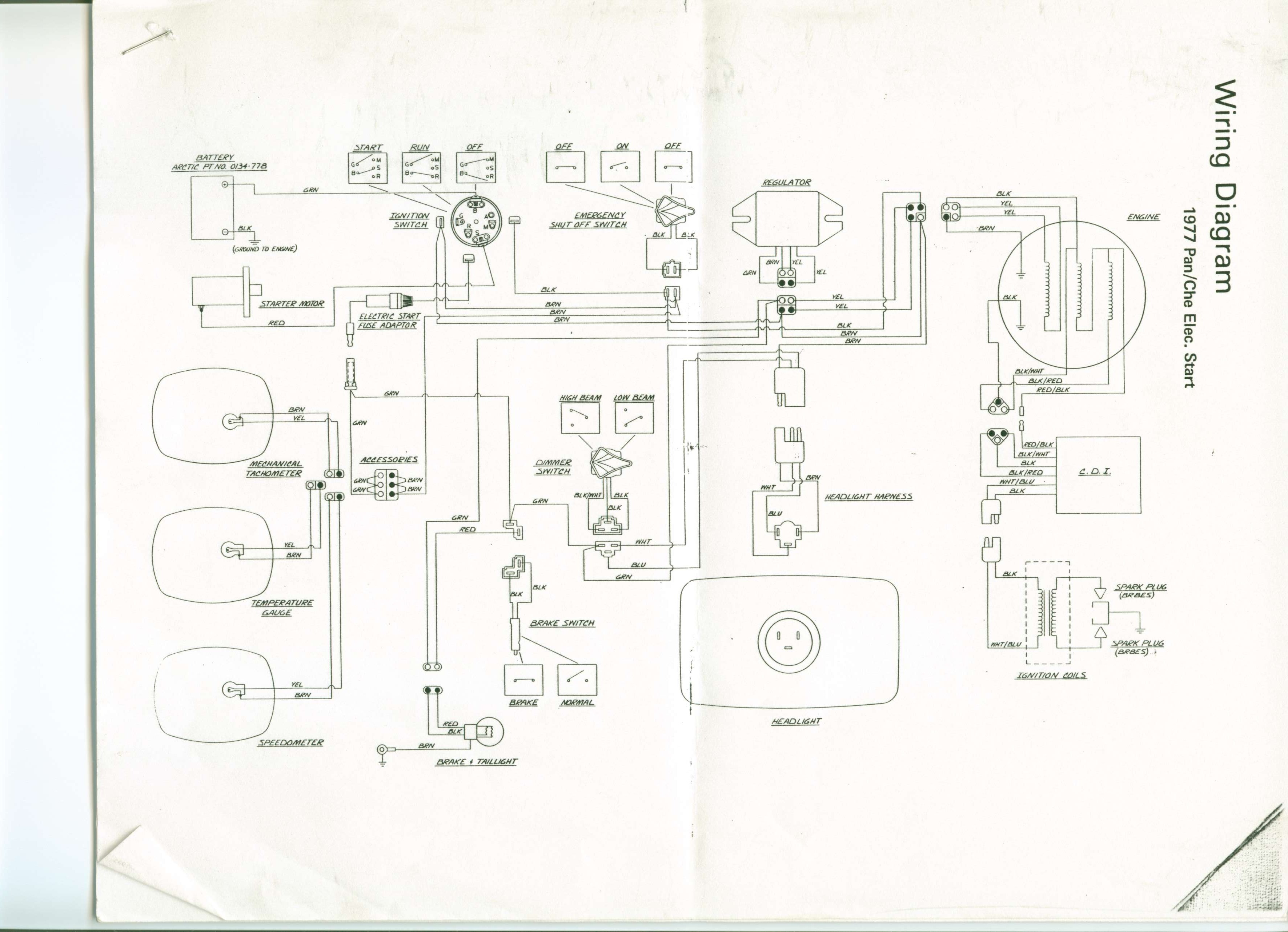 1974 arctic cat panther wiring diagram