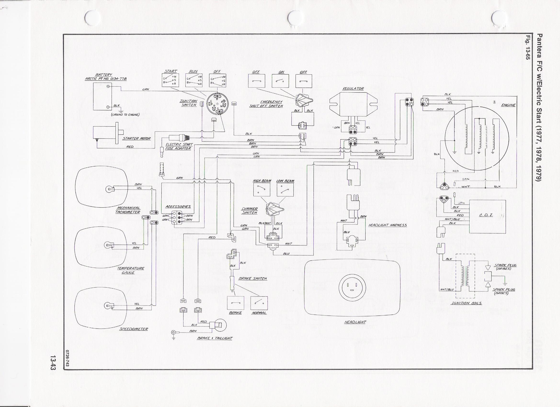 1990 arctic cat wiring diagram
