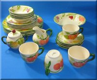 FRANCISCAN DESERT ROSE PATTERN COFFEE CUPS SAUCERS PLATES ...