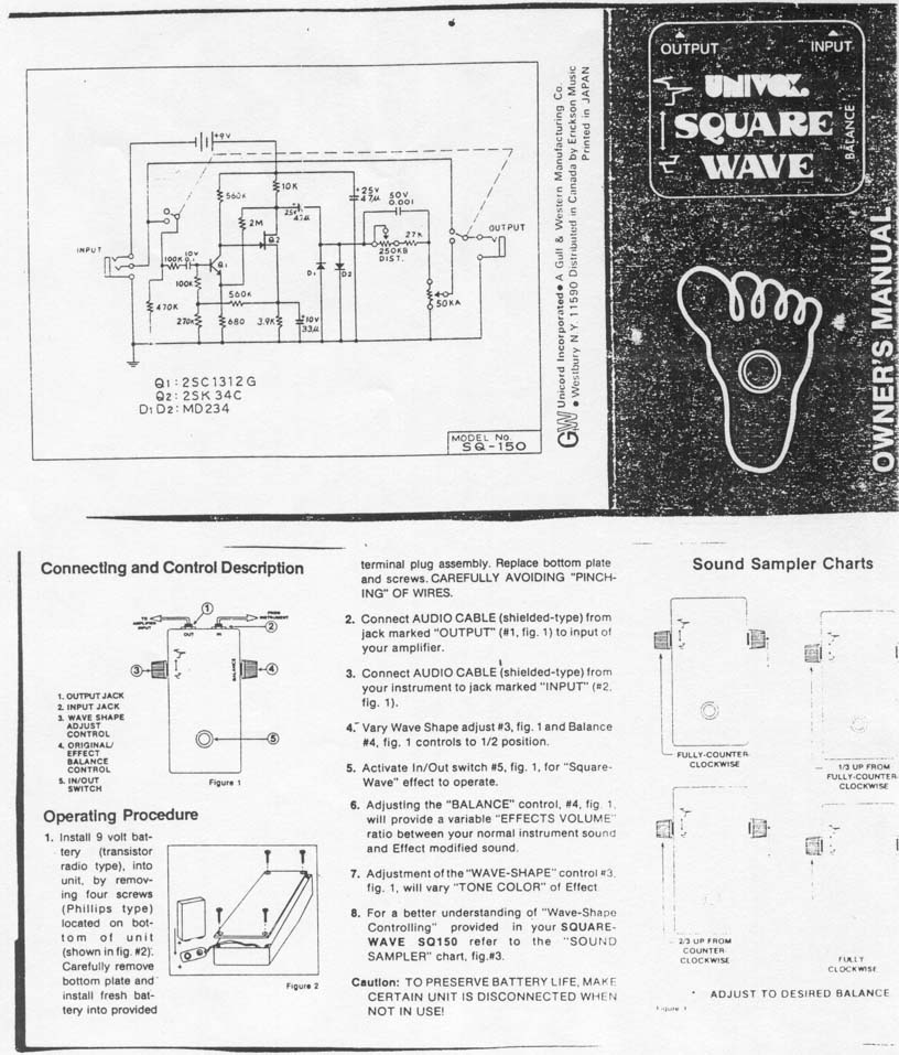 Univox U 45b Schematic Wiring Diagram