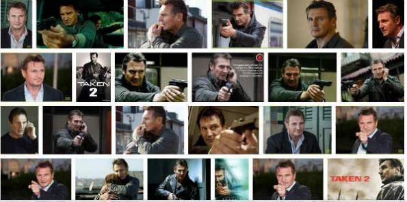 Liam Neeson pointing his gun