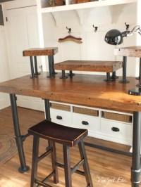 Industrial style desk ~ reveal 1/3 - Vin'yet Etc.Vin'yet Etc.