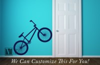 BMX road bicycle wall vinyl decal graphic a sports wall ...
