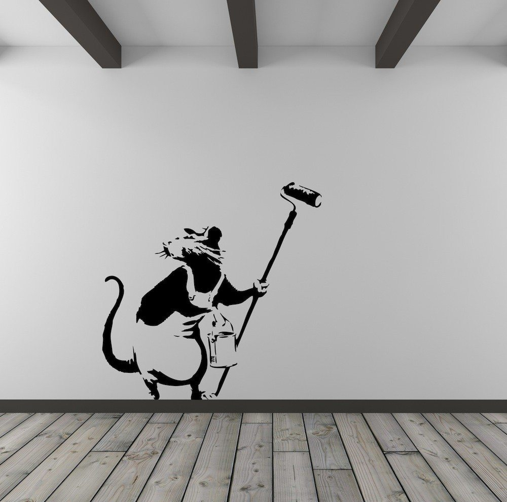 Banksy rat painter vinyl wall art decal vinyl revolution