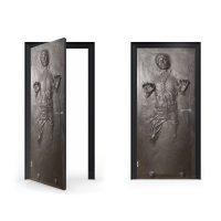 Han Solo in Carbonite Vinyl Sticker for Door | Vinyl ...