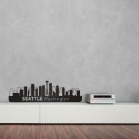 Seattle City Skyline Wall Art   Vinyl Revolution