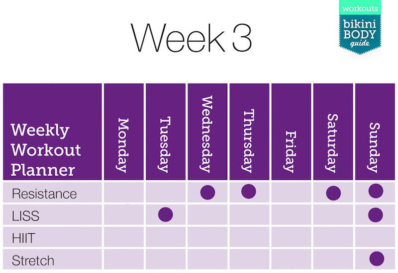 Kayla Itsines Bikini Body Program - Week 3