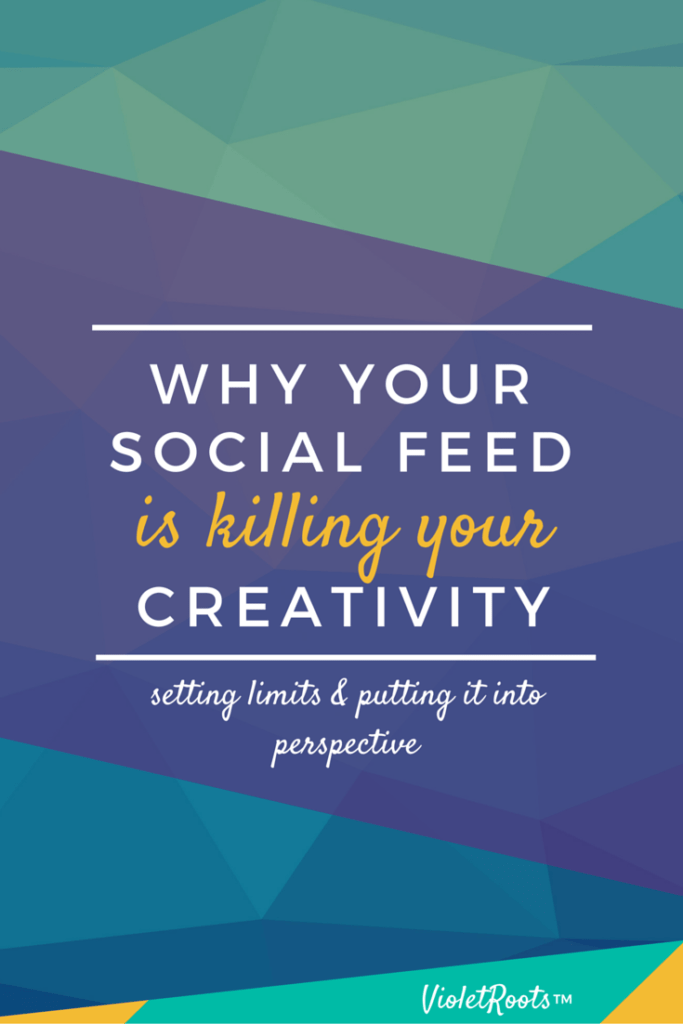 Why Your Social Feed is Killing Your Creativity - Are you in a creative rut? Hear why your social feed is killing your creativity! Learn how to set limits, prioritize and put it into perspective today!