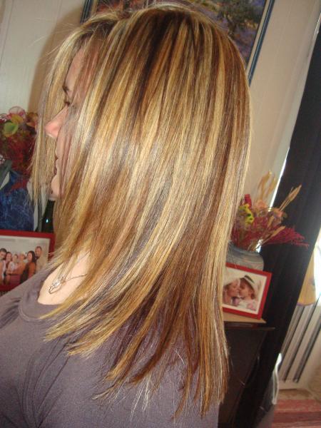 Complètement et trop extrême meche blonde sur cheveux blond foncé   ivory hairstyle &OX_78