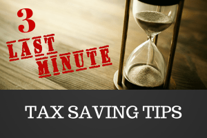 3 last-minute tax saving tips 2016