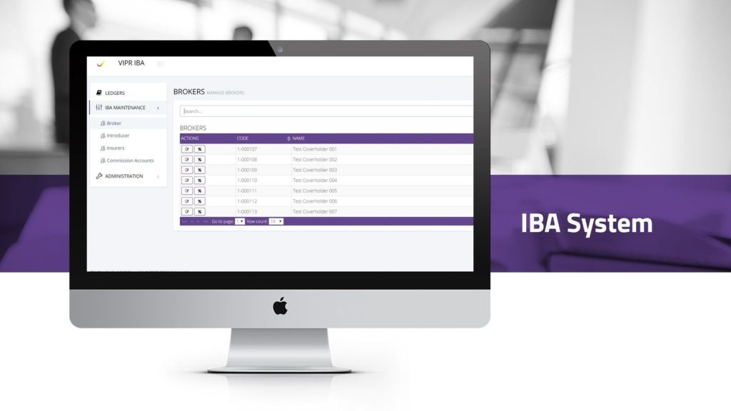 Insurance Broking Accounts (IBA) System VIPR